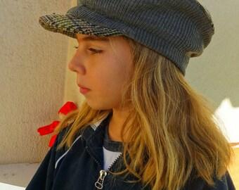 Vintage mens newsboy cap tweed hat hipster boho flat driving cap irish cap ivy golf cap Portuguese 1950's