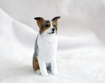 Custom dog figurines made in polymer clay - Aussie - miniature figurine of your Dog - please note there is a waiting list.
