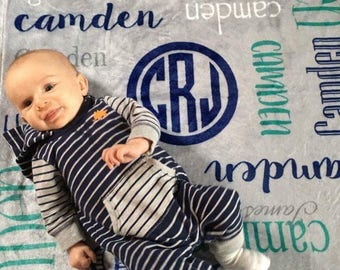 Personalized Baby Blanket, Newborn Swaddle, Tribal Arrow Adventure, Baby Girl, Baby Boy, Toddler, Nursery, Receiving Blanket