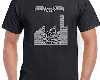 Joy Division Factory Records Mash Up - Mens T-Shirt FAC51 Unknown Pleasures 1422