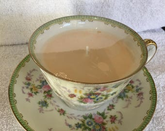 Soy Candles in Vintage Teacups