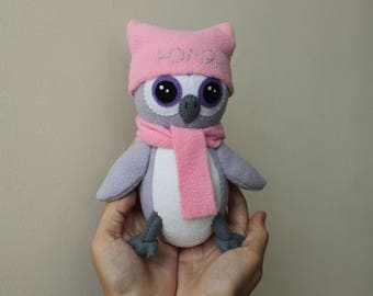 Purple Owl Plush Toy can be personalized