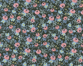Cotton + Steel- Rosa in Hunter- Menagerie- Rifle Paper Co.