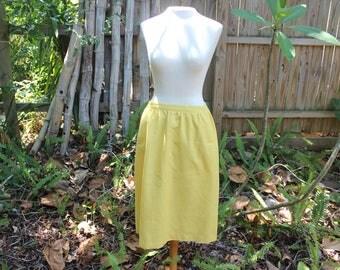 Vintage Yellow Midi Skirt- S/M