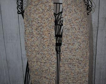Crochet Scarf Classic - Gold