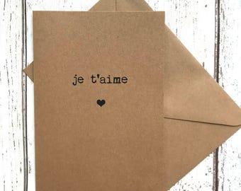 Wife love card, quote card, best friend card, love card, I love you card, anniversary card, wedding card, girlfriend card, romantic card