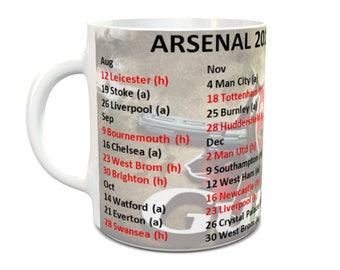 Arsenal 2017/18 fixture mug