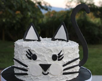 Cat Cake Topper, Cat Birthday Cake, DIY Cat Cake, Cat Birthday Cake Topper, Cute Cat Cake Topper