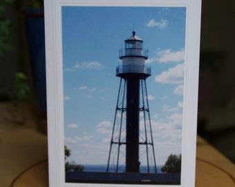 Fine Art Print   Photo Greeting Card Duluth   Blue Sky   Duluth Lighthouse   Lighthouse Card   Duluth Minnesota   Duluth   5x7   8x12