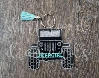 Glitter Keychain | Jeep | Jeep Keychain | Monogram | Country Girl | Jeep Life | Jeep Girl | Glitter Key Chain | Jeep Key Chain | Key Chain