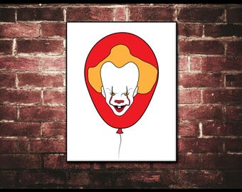 Pennywise the Clown, It Movie, Stephen King, Horror Movies, Halloween Decorations, Pennywise Balloon, Creepy Clowns, We All Float, Tim Curry