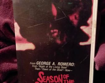 Season of the witch vhs// george a romero//clamshell//vista home video//1973//vintage horror//horror vhs