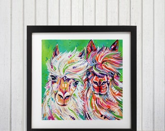 Alpaca print,  Alpaca wall art, Alpaca wall print, Alpaca decor, Llama decor, Llama wall art, Llama art