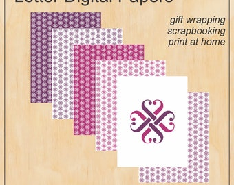 Letter sized wrapping paper bundle - Jamberry - Digital PDF file