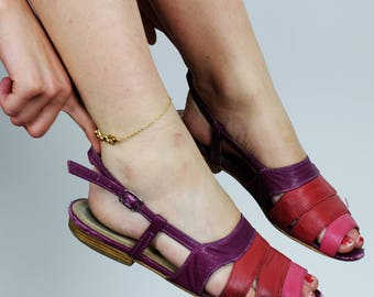 VINTAGE AMERICAN APPAREL Multi-color Sandal in Shades of Pink American Apparel Offical