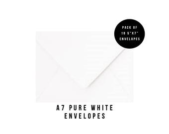 5x7 White Envelopes