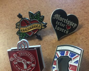 greaser Morrissey smiths pin set pray for manchester