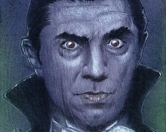 Dracula - Bela Lugosi - painting painting - original