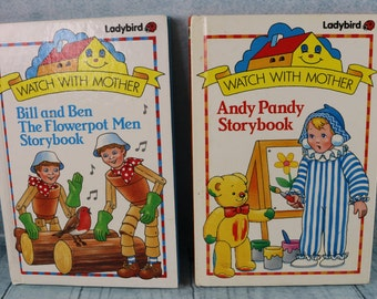 Ladybird vintage Watch with Mother books Bill and Ben and Andy Pandy BBC TV children's story books