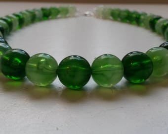 Emerald Green Beaded Necklace