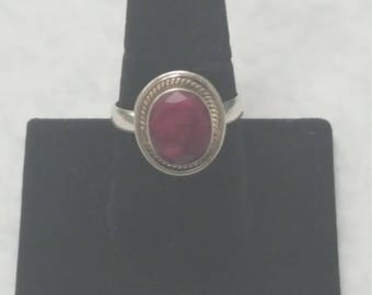 Vintage Ruby Gemstone Ring size 10