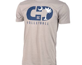 State Flag Logo: South Carolina Volleyball Short Sleeve T-shirt, Volleyball Shirts, Volleyball Gifts, SC Volleyball - Free Shipping!