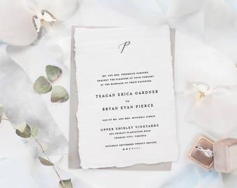 The Teagan Suite | Wedding Invitation Suite, Wedding Invitation, Romantic Wedding Invitation, Calligraphy Wedding Invitation