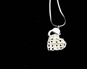 Handcuff Heart Necklace