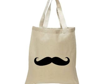 High Quality Heavy Canvas Tote Bag - Moustache Tote Bag