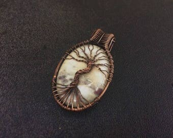 Wire Wrapped Tree of Life Jasper Pendant