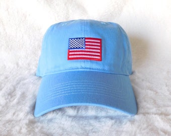 American Flag Baseball Hat, 4th of July Dad Hat, American Flag Dad Hat, Fourth of July Hat, 4th of July Baseball Hat, Blue Baseball Hat
