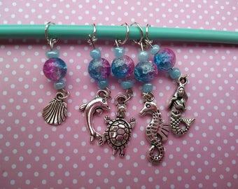Sea Creature Knitting Stitch Markers
