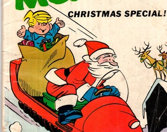 Dennis the Menace Christmas Special Hallden/Fawcett Comic Book VG 3.5 1967