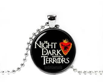 Melisandre Necklace Baratheon Lord of Light The Night is dark and full of Terrors Pendant Red Woman Game Of Thrones Jewelry