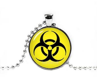 Bio Hazard Radiation Symbol Necklace Bio Hazard Pendant Geeky Fangirl Fanboy
