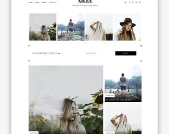 LIMITED! Ailee | Responsive Minimalist Premade Blogger Template