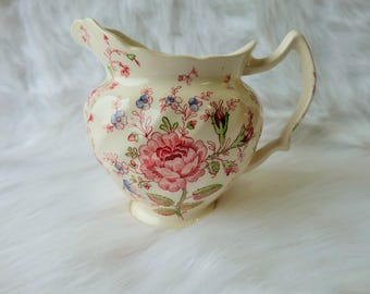 Vintage Rose Chintz Pitcher - Johnson Brothers - 1950's