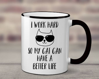 Funny Cat Mug | Cat Coffee Mug | Cat Mug | Funny Cat Mugs | Cat Lady Mug | Cat Lover Gift | Gift for Cat Lover | Crazy Cat Lady Mug