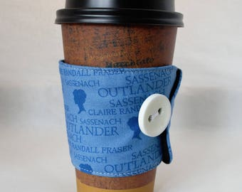 Outlander Coffee Sleeve - Coffee Cozy - Fabric - Reusable