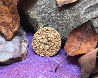 Sugar Skull Bronze Coin/Pendant