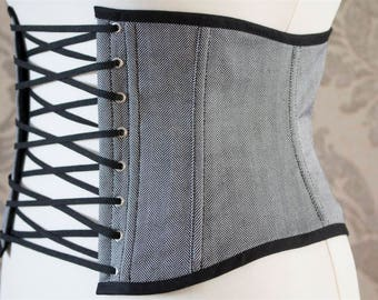 Light herringbone corset grey