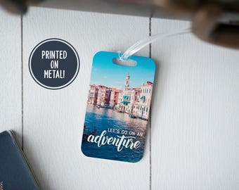 Travel Tag Adventure - Italy - Adventure Tag - 10th Anniversary - Luggage Tag - Adventure Awaits - Flight Attendant - Travelers Gift