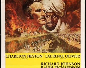 """Khartoum (1966) Original One Sheet Movie Poster - 27"""" x 41"""""""
