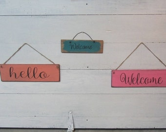 3 Signs, Pre-made sign set, Wreath Signs, Spring Signs