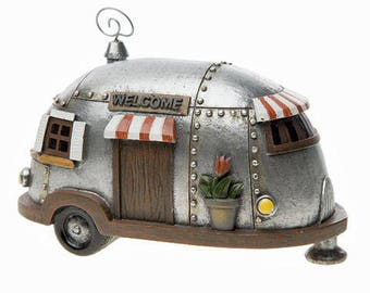 Mini Fairy Garden Camper-Fairy Campers-Fairy Camping-Camper Fairy Garden-Airstream Trailer-Airstream Decor-Gnome Accessories-Summer Fairy