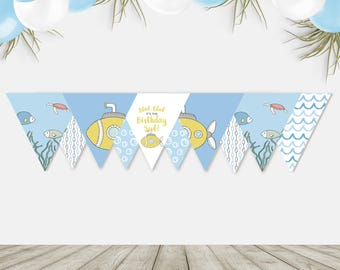 Printable Submarine Flag Bunting