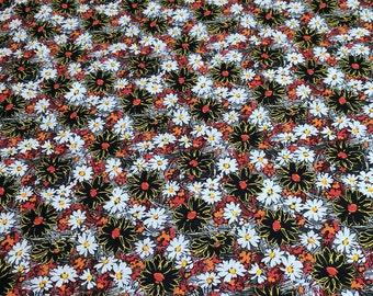 Daisies All Over Cotton Fabric