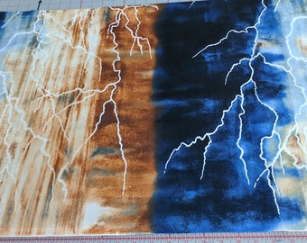 Skylights In the Canyon-Lightning Cotton Fabric from Frond Design Studios