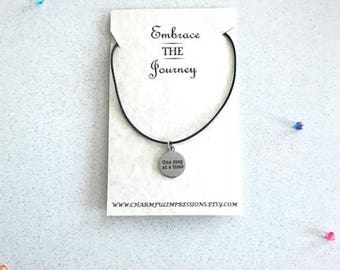 Journey Fitness Necklace Fitness Gifts Fitness Favors Friendship Necklace Encouragement Gift Motivational Necklace Thinking of You Gift