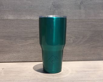 Ready to Ship! Translucent Teal Powder Coated Ozark Trail 30 oz. Tumbler - Stainless Steel Tumbler - Laser Engraved Tumbler - Custom Gifts